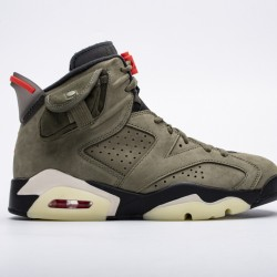 "Travis Scott x Air Jordan 6 ""Medium Olive"" Green Orange CN1084-200"