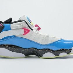 Air Jordan 6 Rings BG White Blue Fury Cyber Pink CK0018-100 36-45