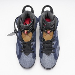 "Air Jordan 6 ""Washed Denim"" Blue CT5350-401"
