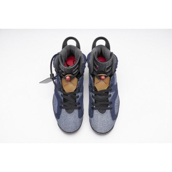 Air Jordan 6 Washed Denim Blue CT5350-401 Shoes
