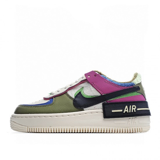 Nike Air Force 1 Shadow Cactus Flower Purple Green White CT1985-500 Shoes