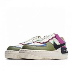 "Nike Air Force 1 Shadow ""Cactus Flower"" Purple Green White CT1985-500"