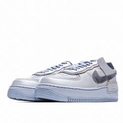 "Nike Air Force 1 Shadow ""Snakeskin"" White Black CV3027-001"