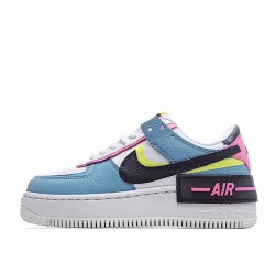 """Nike Air Force 1 Shadow """"Sunset Pulse"""" White Blue CU8591-101"""