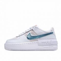"Nike Air Force 1 Shadow ""White Glacier Ice"" White Blue DA4286-100"