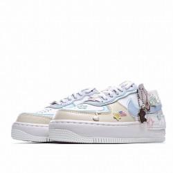 "Nike Air Force 1 Shadow ""Pastel"" White Blue Pink CI0919-106"