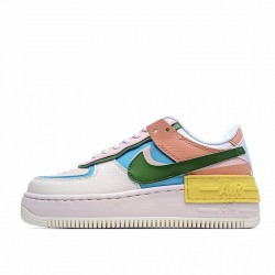 """Nike Air Force 1 Shadow """"Multi Color"""" White Blue Red CW2630-101"""