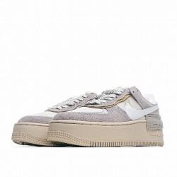"Nike Air Force 1 Shadow ""Wild"" White Gey DC5270-016"