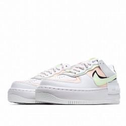 "Nike Air Force 1 Shadow ""White Crimson Tint"" White Green Orange CI0919-107"