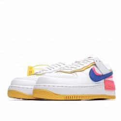 """Nike Air Force 1 Shadow """"White Crimson Blue"""" White Pink Blue CI0919-105"""