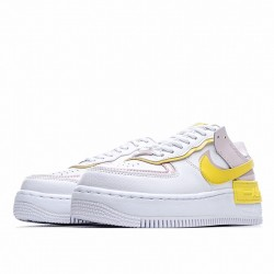 "Nike Air Force 1 Shadow ""Sunshine"" White Pink Yellow CJ1641-102"