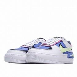 """Nike Air Force 1 Shadow """"Sapphire"""" White Purple Green CJ1641-100"""