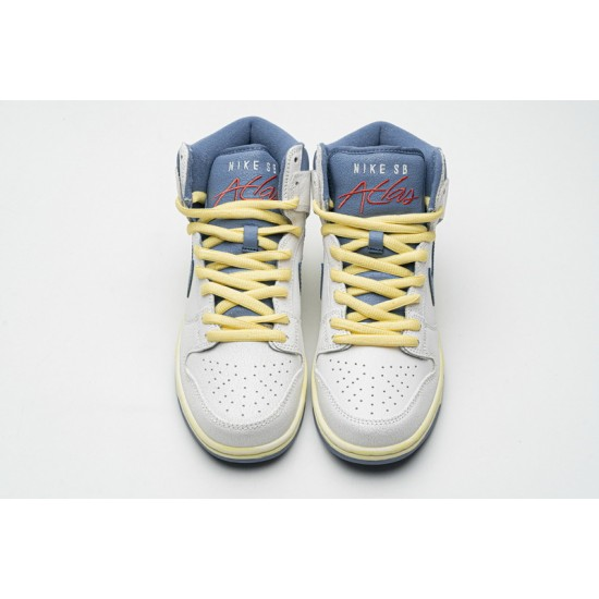 Atlas x Nike SB Dunk High Lost At Sea White Blue Yellow CZ3334-100 36-47 Shoes