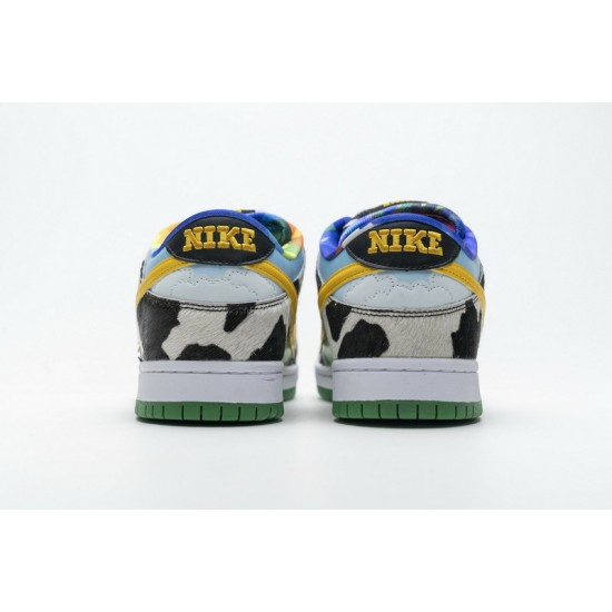 Ben Jerry x Nike SB Dunk Low Chunky Dunky White Blue CU3244-100 Shoes