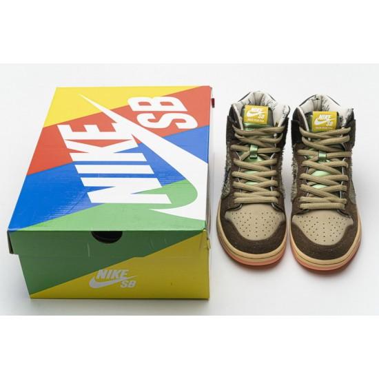 Concepts x Nike SB Dunk High Pro QS Mallard Black Brown DC6887-200 Shoes