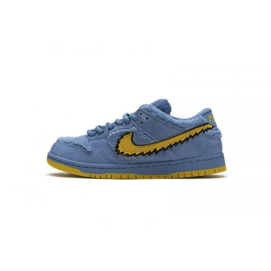 Grateful Dead x Nike SB Dunk Low Pro QS Blue Bear Blue Yellow CJ5378-400 Shoes