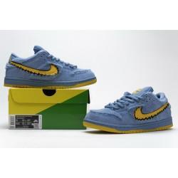 """Grateful Dead x Nike SB Dunk Low Pro QS """"Blue Bear"""" Blue Yellow CJ5378-400"""