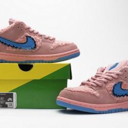 """Grateful Dead x Nike SB Dunk Low Pro QS """"Pink Bear"""" Pink Blue CJ5378-600"""