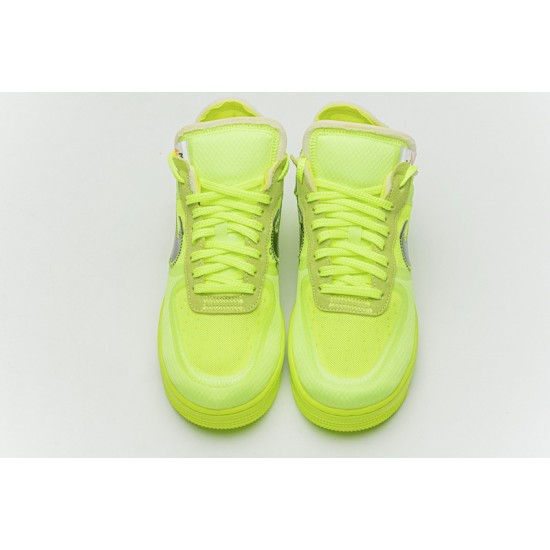 Off-White x Nike Air Force 1 Low Volt Green Black AO4606-700 Shoes