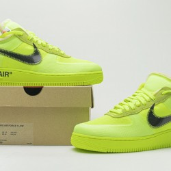 "Off-White x Nike Air Force 1 Low ""Volt"" Green Black AO4606-700"