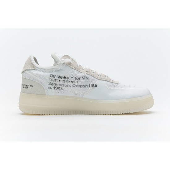 Off-White x Nike Air Force 1 Low The Ten White AO4606-100 Shoes