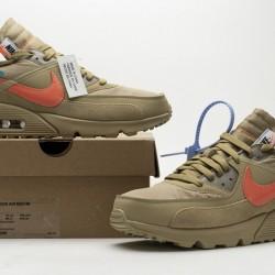 "Off-White x Nike Air Max 90 ""Desert Ore"" Brown Orange AA7293-200"