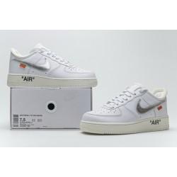 """Off-White x Nike Air Force 1 07 Low """"Conplex Con"""" White Silver AO4297-100"""