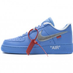 "Off-White x Nike Air Force 1 07 Low ""MCA"" Blue Silver CI1173-400"