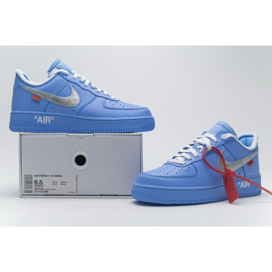 Off-White x Nike Air Force 1 07 Low MCA Blue Silver CI1173-400 Shoes