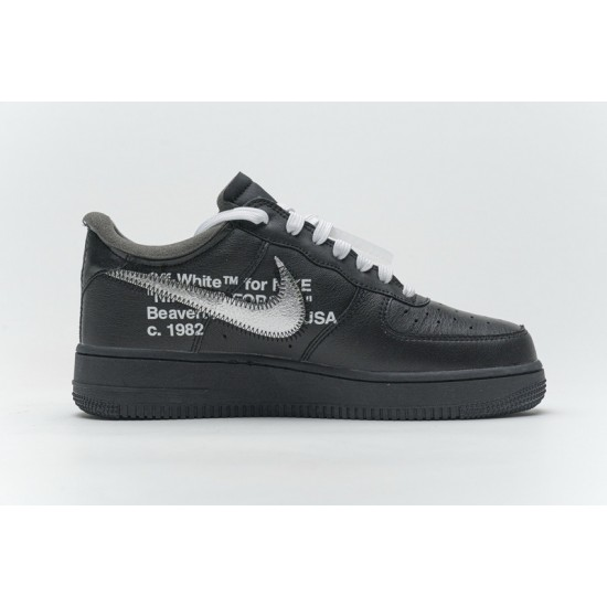 Off-White x Nike Air Force 1 07 Low MOMA Black Silver AV5210-001 Shoes