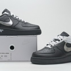 "Off-White x Nike Air Force 1 07 Low ""MOMA"" Black Silver AV5210-001"