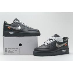 "Off-White x Nike Air Force 1 07 Low ""MOMA"" Black Silver AV5210-001"