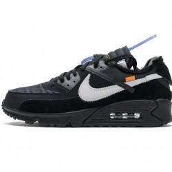 "Off-White x Nike Air Max 90 ""Black"" All Black AA7293-001"